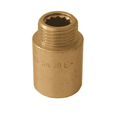 """Удлинитель ВР/НР, усиленный, латунь, арт.513R   1""""х 100 мм"""