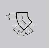 Отвод SML 45°, чугунный, арт.011008045  80 мм