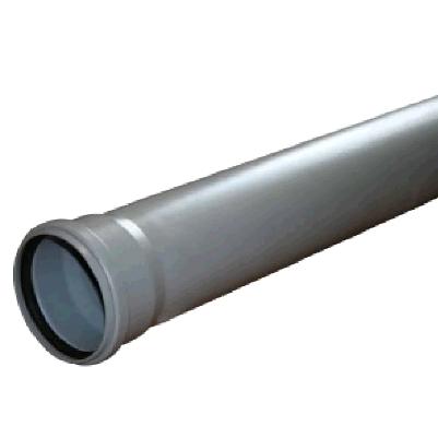 Труба ПВХ, для внутреней канализации, серая  50 х1000мм