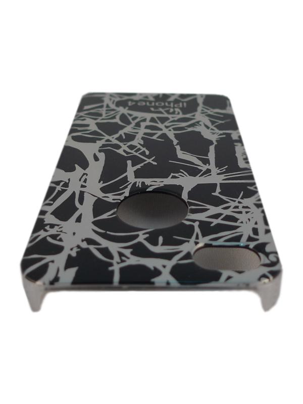 Чехол Apple iPhone 4G SPARKLE (деревянный черн.)