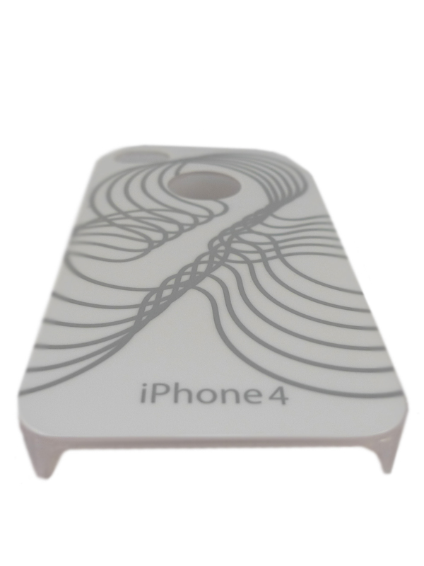 Чехол Apple iPhone 4G SPARKLE (весенний белый)