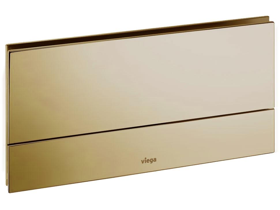 "Кнопка Visign for More 101 Viega 8351.1 для смыва, металл, цвет""золото""  271х140"