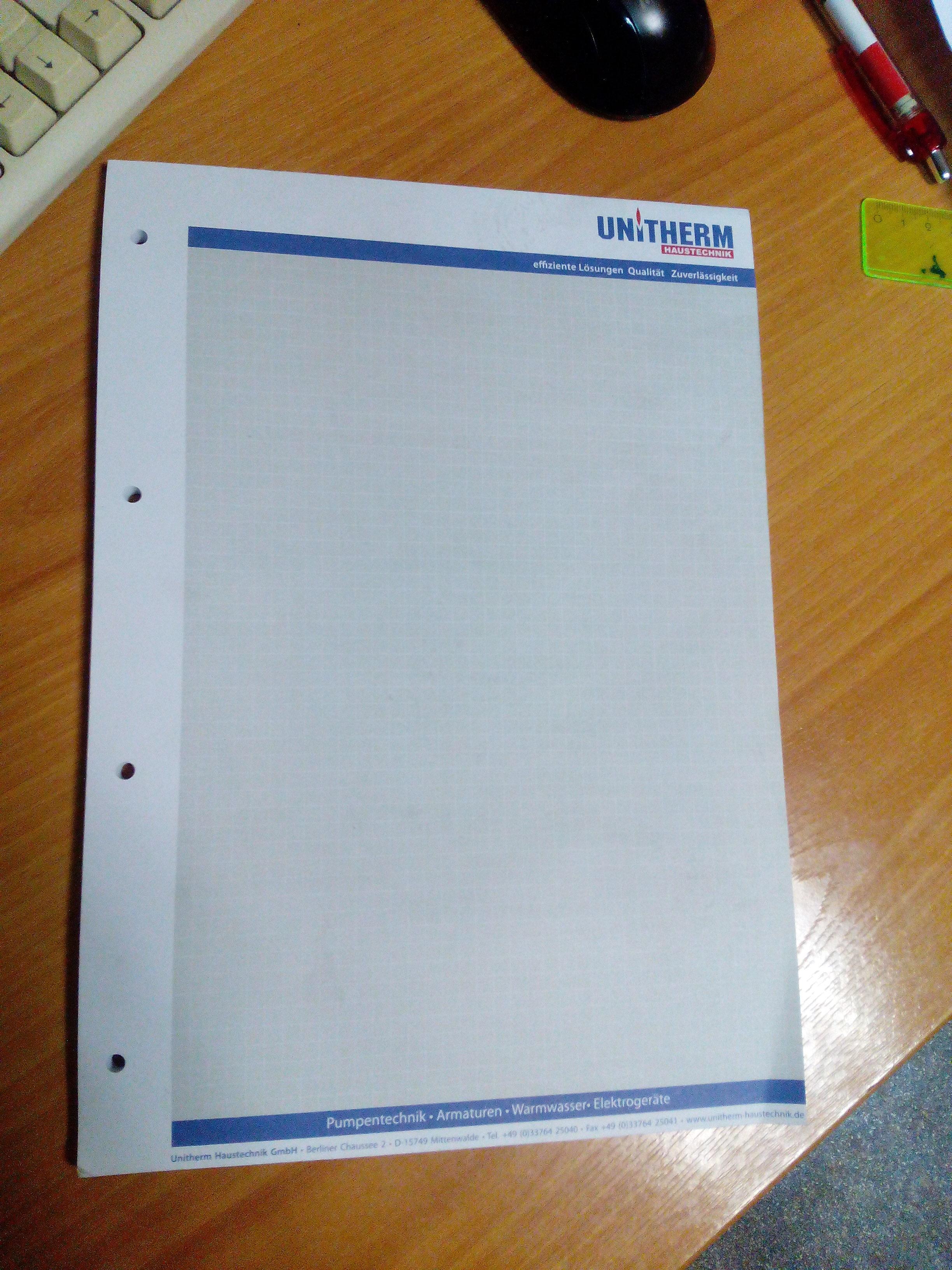 """""""Uniterm"""" Блокнот для записей - А4 (клей)"""