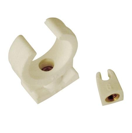 Клипса одинарная с резьб.крепл., для медных труб, арт.9826c  28 мм