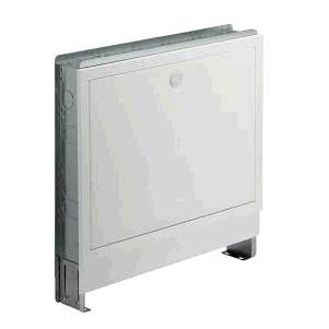 Шкаф для коллектора Fonterra, встраиваемый, регулируемый по высоте, сталь оцинкованная/белая, арт.1294  460х445х490