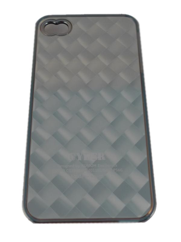 Чехол Apple iPhone 4G Hard Deco Case Cyber (серебро)