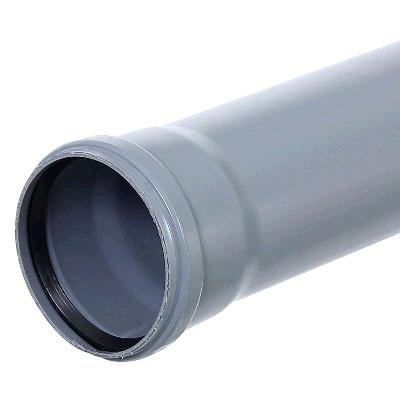 Труба ПВХ, для внутреней канализации, серая  110х2,7х1000мм
