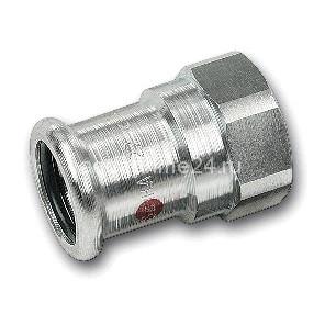 (SN) 24270g Пресс-Муфта переходная с ВР SANHA-Therm, сталь оцинкованная