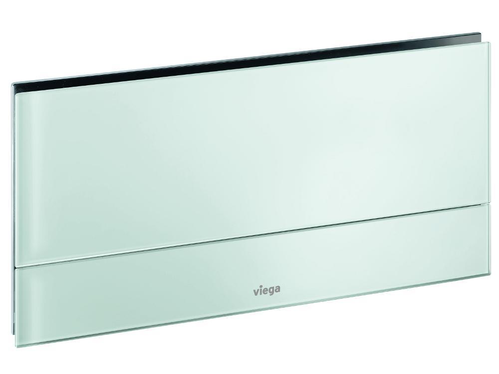 Кнопка Visign for More 101 Viega 8351.1 для смыва, металл/стекло (серое)  271х140