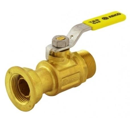 """Кран шаровый, газ, ВP/НР, стальной рычаг (желтый), латунь, TER арт.00512  1 ¼ """""""
