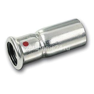 (SN) 24243 Пресс-Муфта однораструбная SANHA-Therm, сталь оцинкованная