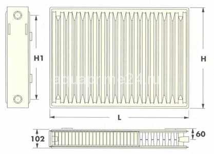 Радиаторы Radel-RD тип 22V, нижнее подключение