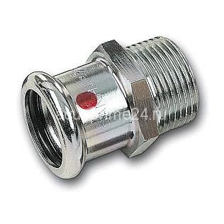(SN) 24243g Пресс-Муфта переходная с НР SANHA-Therm, сталь оцинкованная