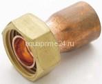 """Переходник с накидной гайкой, для медных труб, медь, арт.359GL283-G  28 х 3/4"""""""