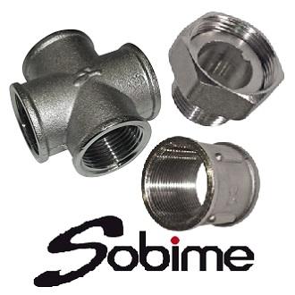 Фитинги SOBIME латунные резьбовые никелированные