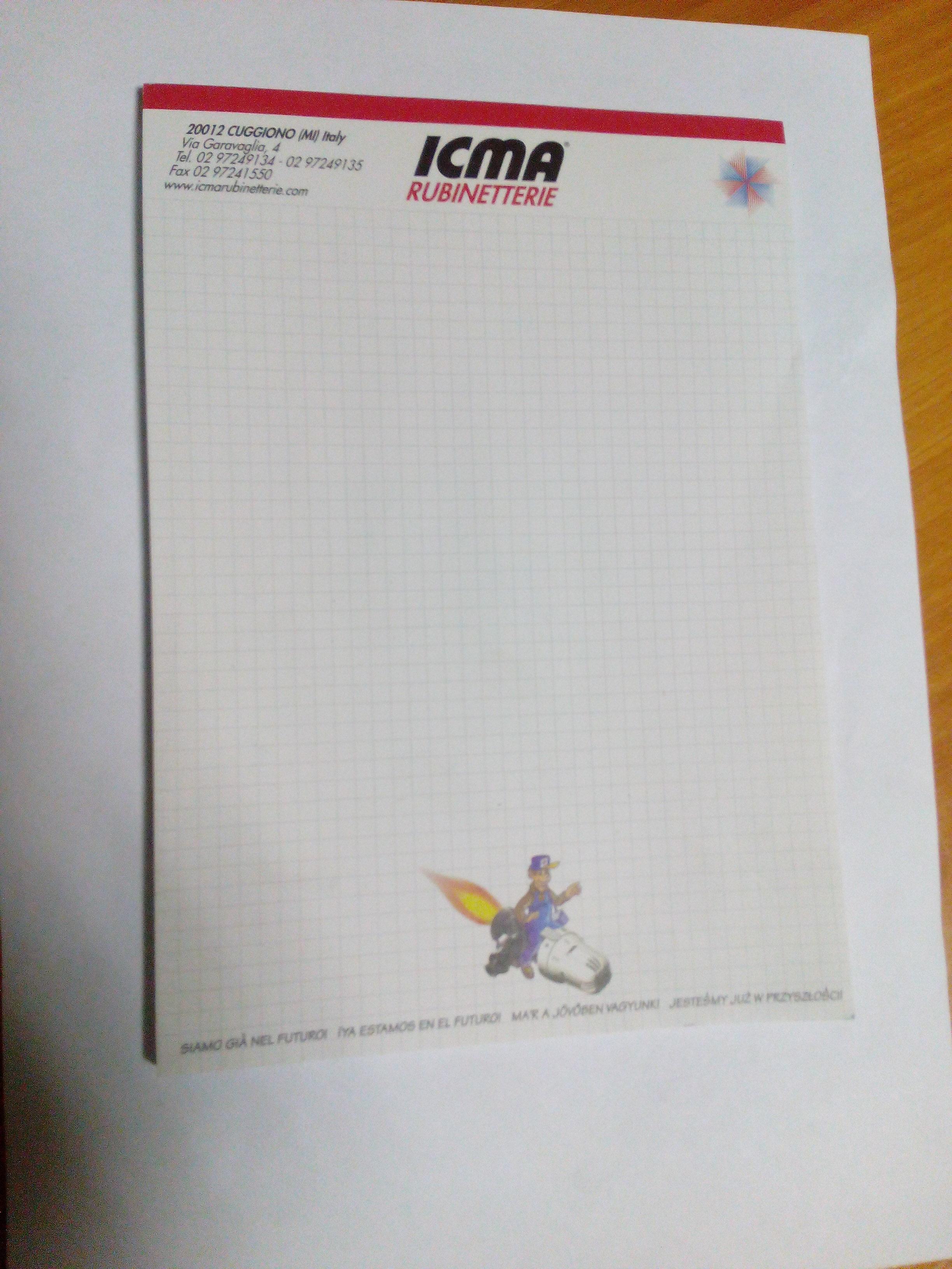 """""""ICMA"""" Блокнот для записей - А5 (клей)"""
