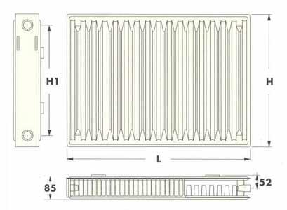 (Radel) Радиаторы панельные тип 21