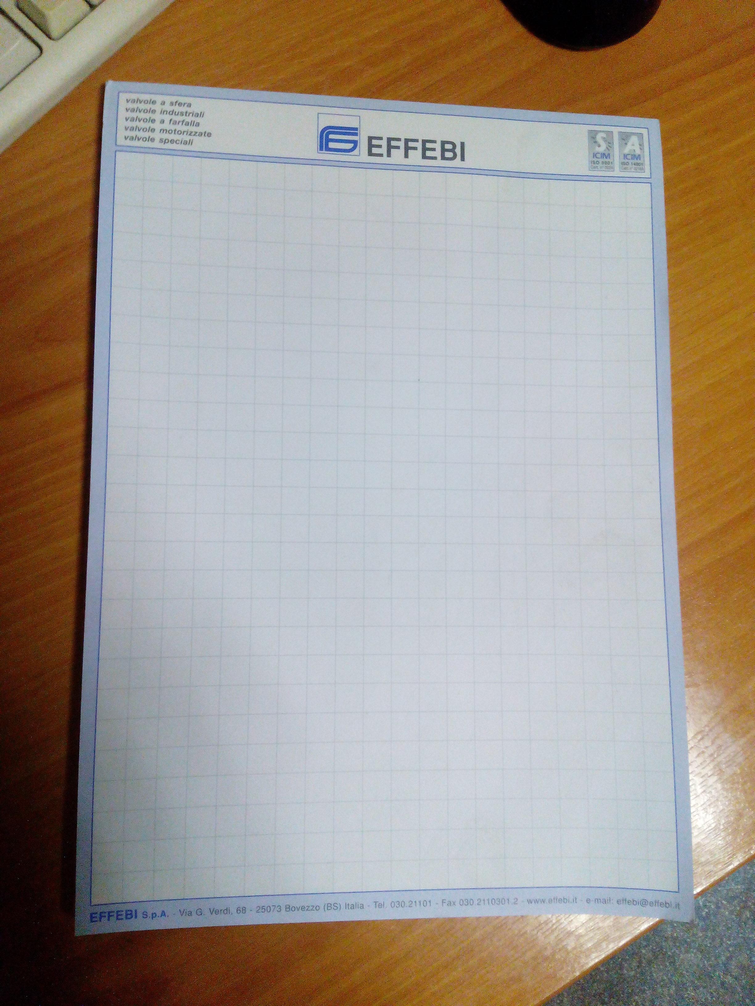 """""""EFFEBI"""" Блокнот д/записей - А4 (клей)"""