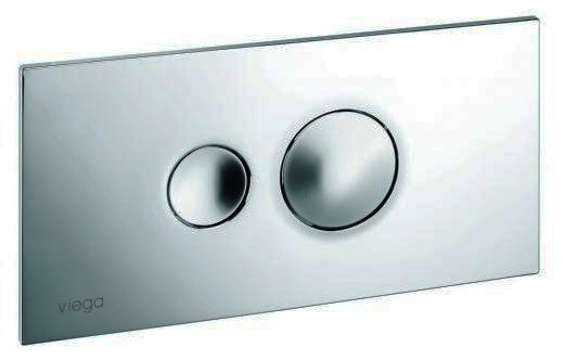 Кнопка Visign for Style 10 Viega 8315.1 для смыва, пластик, хромированная, матовая 271х140