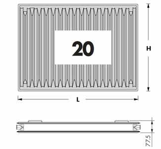 (Radel) Радиаторы панельные тип 20 (рекоменд. д/медиц-их учережд.)