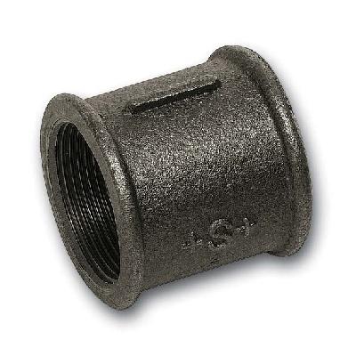 SANHA Муфта прямая полнопроходная, чугун черный, ВР, арт. 272