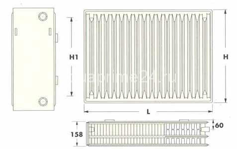 Радиаторы Radel-UKR тип 33, боковое подключение
