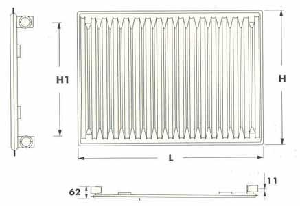 (Radel) Радиаторы панельные тип 10