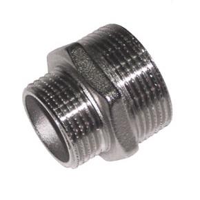 SOBIME Ниппель редукционный никелированный, латунь, НР, арт. 33R