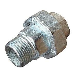 SOBIME Американка прямая, плоская, никелированная, латунь, НР/ВР, арт. 81МНEJP