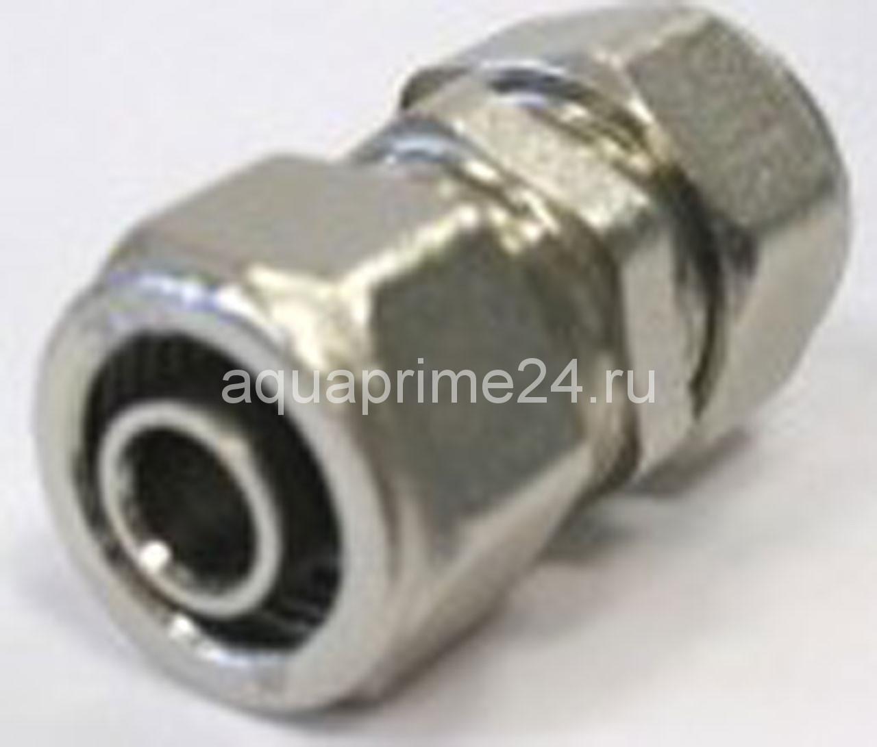 Sobime Муфта компрессионная, латунь, никелированная, арт.1501600N  16мм