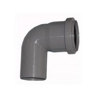 Отвод 87° для внутреней канализации, ПВХ, серый  50 мм
