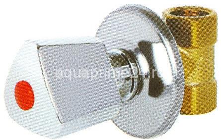 """Кран шаровый под штукатурку, ВР, металлическая ручка """"Luxe"""", INCA, арт.00380   1/2"""""""