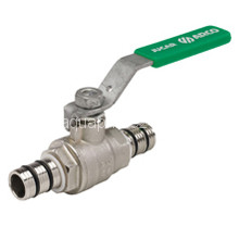 Кран шаровый для многослойных труб, рычаг, зеленый, арт.JUC22   20 х 2,0