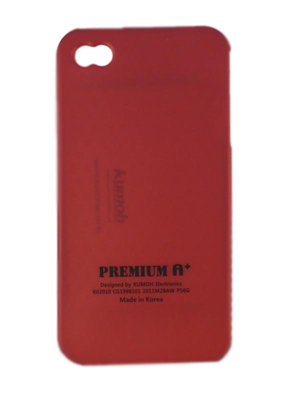 Чехол Apple iPhone 4G Soft Premium Case (красный)