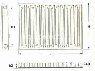 Радиаторы Radel-UKR тип 11C, боковое подключение