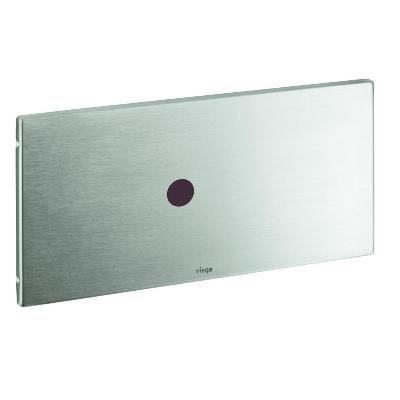 Кнопка Visign for Public 6 Viega 8326.15 для смыва, металл, нержавеющая сталь, неполированная  271х140
